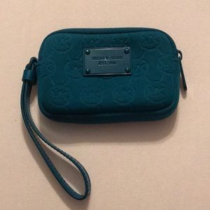 Michael Kors MK turquoise small wallet